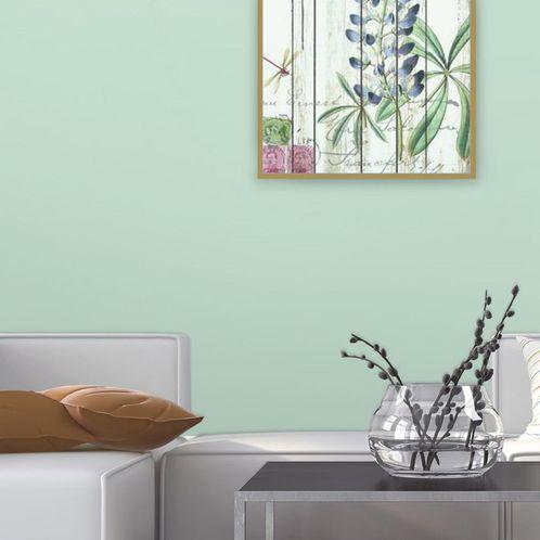 Papel de Parede Adesivo Rolo 0,58x3,00M Liso Verde 23