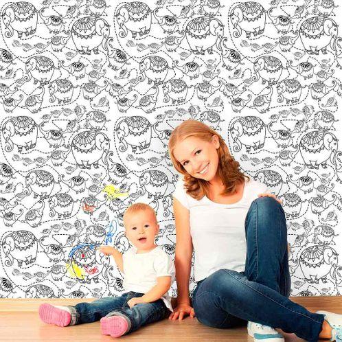 Papel de Parede Adesivo Rolo 0,58x3,00M para Colorir 321033416