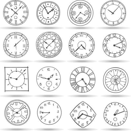 Papel de Parede Adesivo Rolo 0,58x3,00M Relógios Tempo 263305682