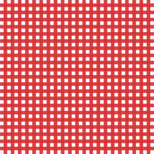 Papel de Parede Adesivo Rolo 0,58x3,00M Xadrez Vermelho 847596223