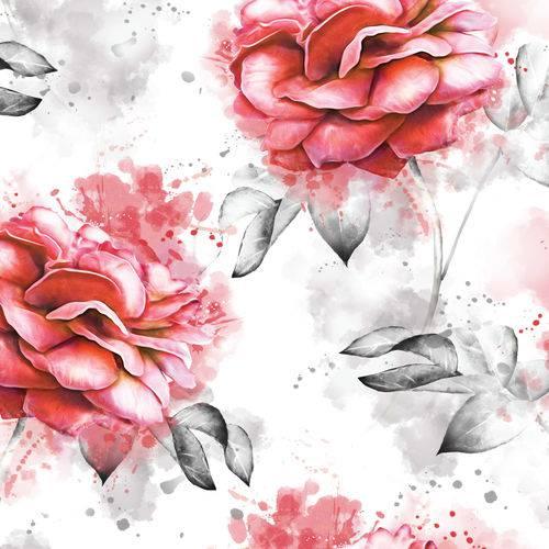 Papel de Parede Adesivo Rosas 2,70x0,57m