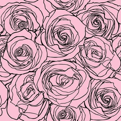 Papel de Parede Adesivo - Rosas Rosas - N0045