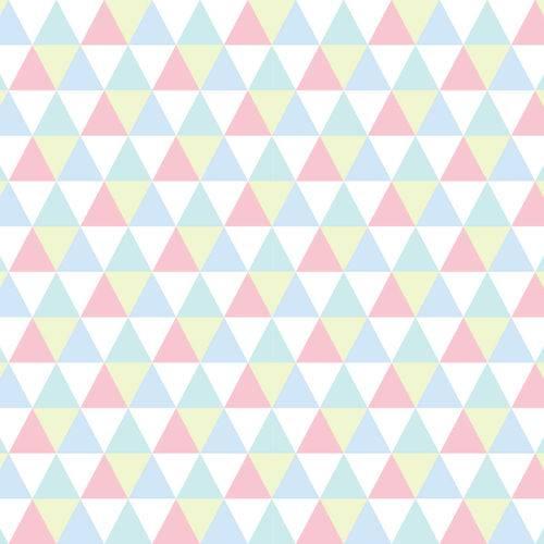 Papel de Parede Triângulos Coloridos 2,70x0,57m