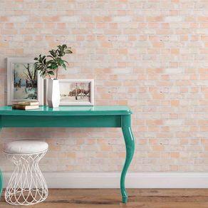 Papel de Parede Adesivo Tijolo Rústico Patinado Aparente Casa do Sonho TJ14031