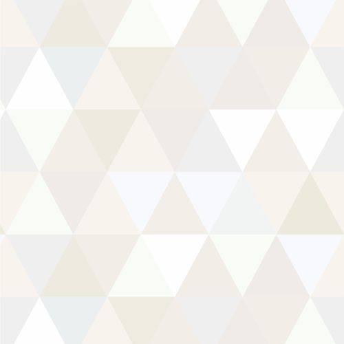 Papel de Parede Adesivo Triângulos Claros