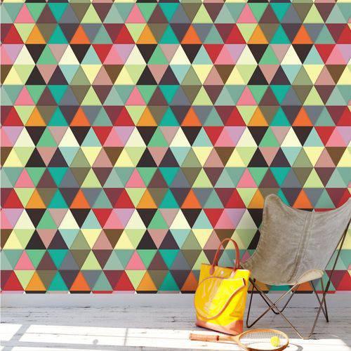 Papel de Parede Adesivo Triângulos Coloridos Ii