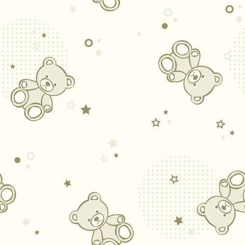 Papel de Parede Adesivo - Urso Pelúcia - N0008