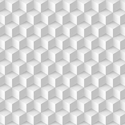 Papel de Parede Autocolante 3D Cubos Branco e Cinza 223036177