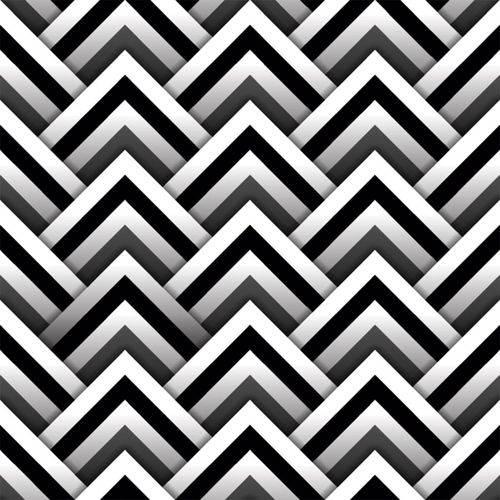 Papel de Parede Autocolante 3D Geométrico Preto e Branco 342702413