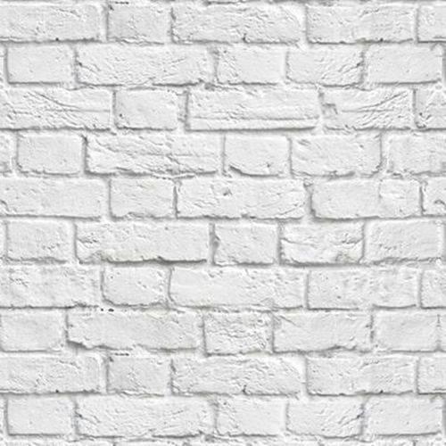 Papel de Parede Autocolante Tijolo Branco