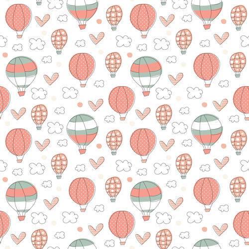 Papel de Parede Balões Infantil Adesivo 2,70x0,57m