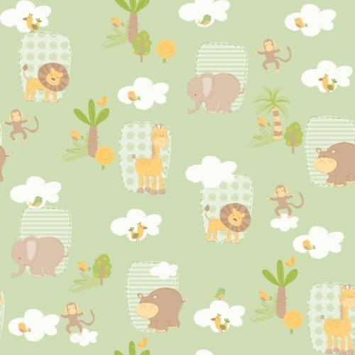 Papel de Parede Bambinos Selva Verde 3303