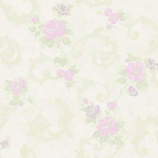 Papel de Parede Beautiful Home Floral I Vinilico Rosa