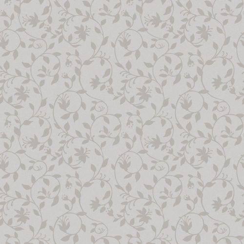 Papel de Parede Beautiful Home Floral Vinilico Cinza