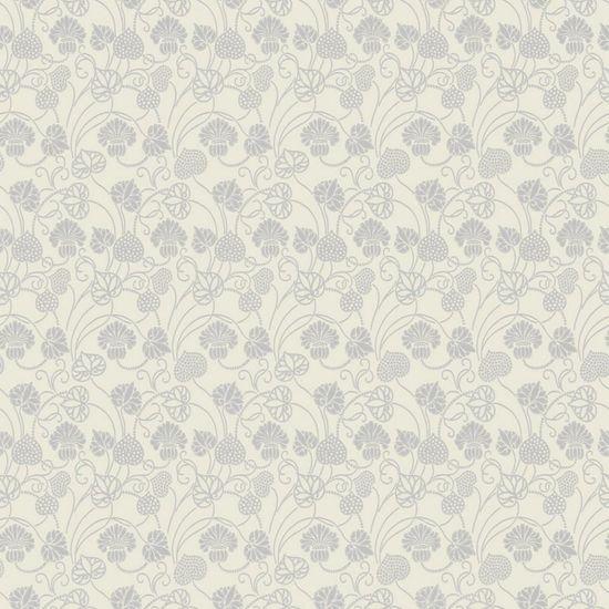 Papel de Parede Beautiful Home Floral Vinilico Creme e Prata