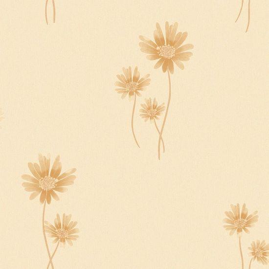 Papel de Parede Beautiful Home Flores Vinilico Bege