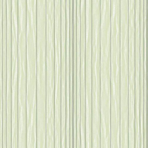 Papel de Parede Beautiful Home Listras Vinilico Verde e Prata