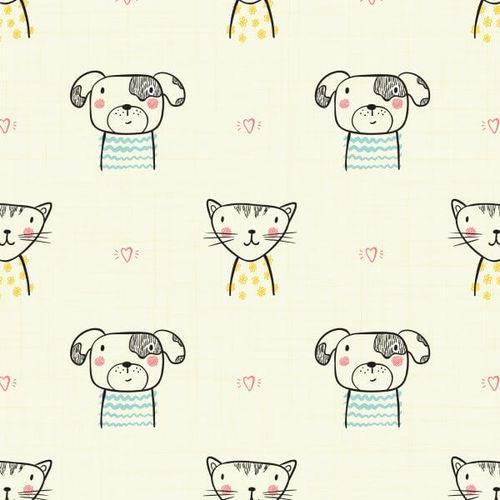 Papel de Parede Gatinhos e Cachorrinhos 2,70x0,57m