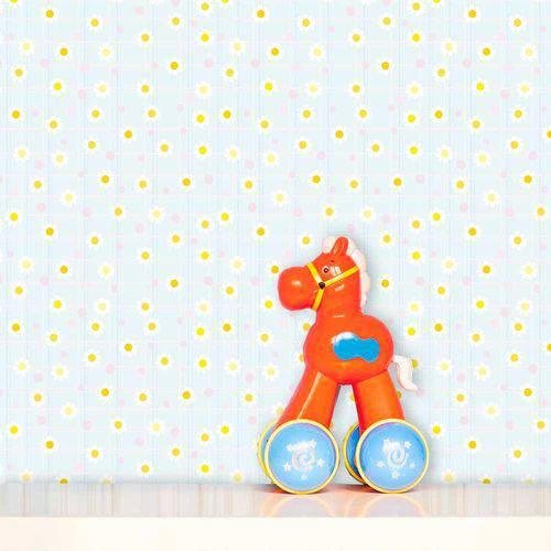 Papel de Parede Infantil Auto Adesivo Lavável Margarida