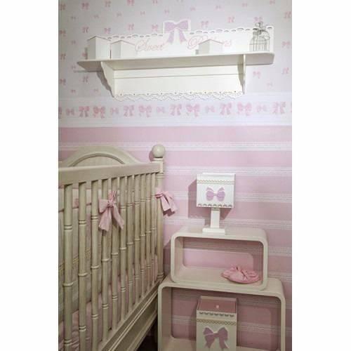 Papel de Parede Infantil Bambinos Laços Rosa 3335 10Mts