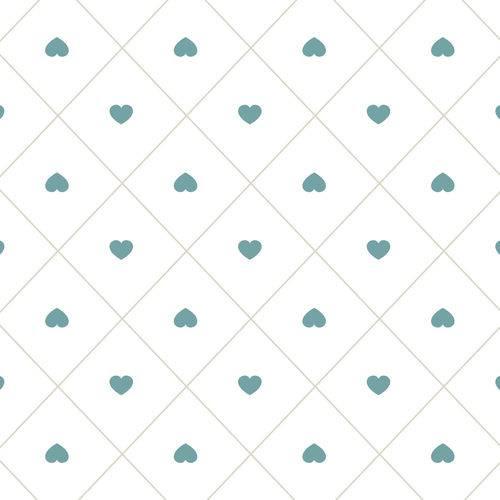 Papel de Parede Infantil Coração 2,70x0,57m