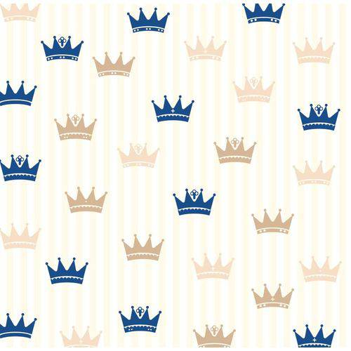 Papel de Parede Infantil Coroas Adesivo Lavável N4088