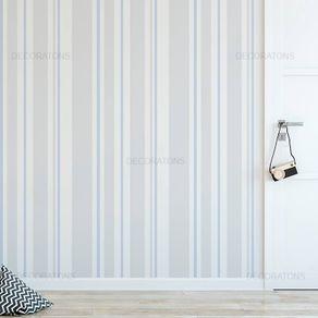 Papel de Parede Listrado Vertical Cinza com Lilás - P