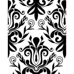 Papel de Parede Preto e Branco Vintage - P