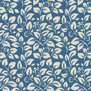 Papel de Parede Vintage em Ramos Azul - P