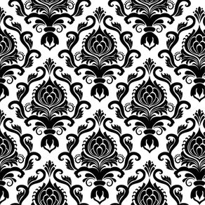 Papel de Parede Vintage Preto e Branco - P