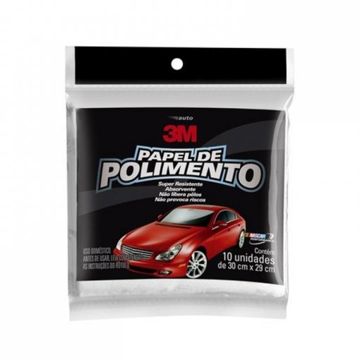 Papel de Polimento - 10 Folhas - 3M
