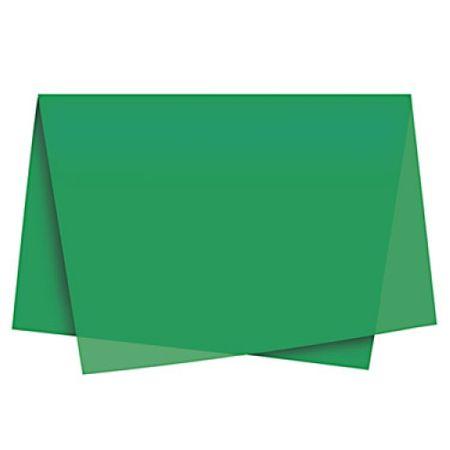 Papel de Seda Verde Escuro - 10 Unidades