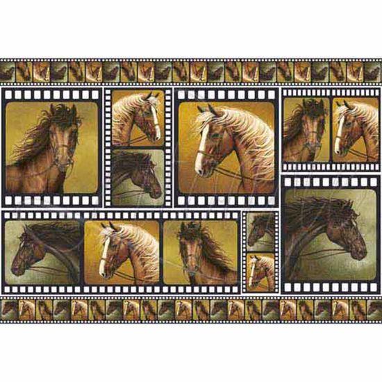 Papel Decoupage 34,3x49cm Cavalos I PD-168 - Litoarte