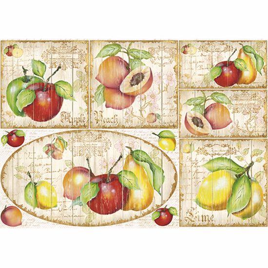Papel Decoupage 34,3x49cm Frutas PD1-053 - Litoarte By Lili Negrão
