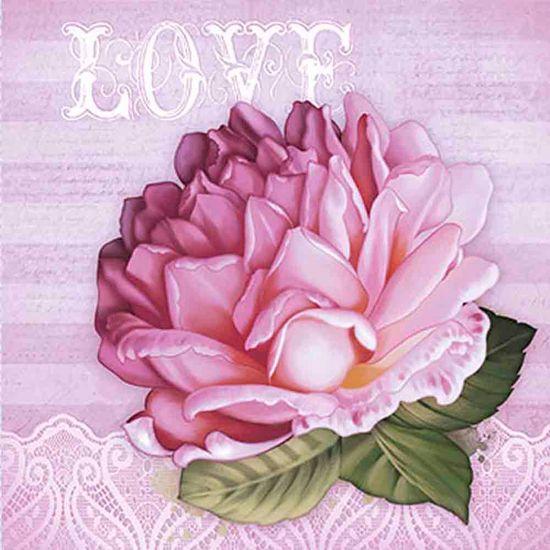 Papel Decoupage Adesiva 15x15 Love DAXV-032 - Litoarte