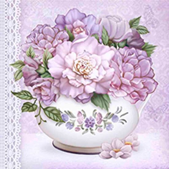 Papel Decoupage Adesiva 15x15 Vaso com Flor DAXV-030 - Litoarte