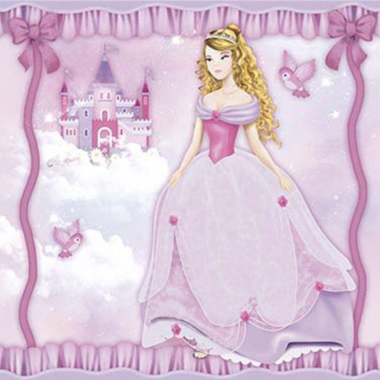 Papel Decoupage Adesiva Litoarte DA20-095 20x20cm Princesa e Castelo