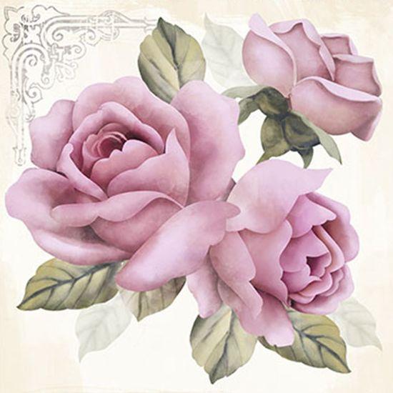 Papel Decoupage Adesiva Litoarte DAX-043 10x10cm Rosas
