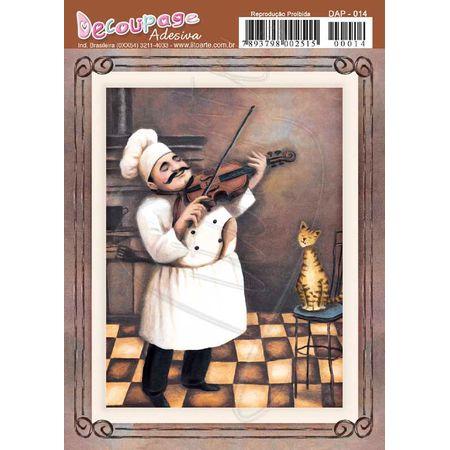Papel Decoupage Adesivo 11 X 14cm Dap014 - Violino