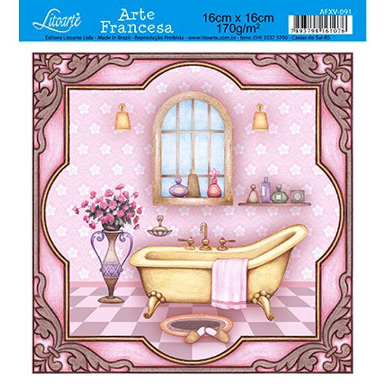 Papel Decoupage Arte Francesa Banheiro AFXV-091 - Litoarte