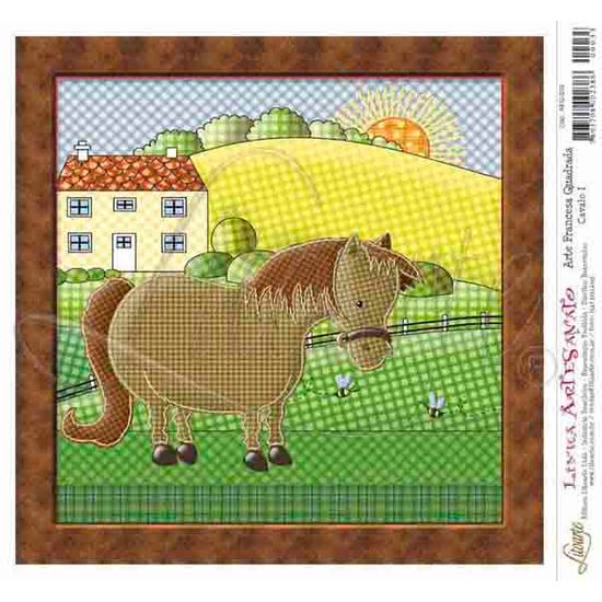 Papel Decoupage Arte Francesa Cavalo I AFQ-033 - Litoarte