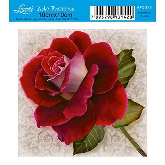 Papel Decoupage Arte Francesa Flor AFX-345 - Litoarte