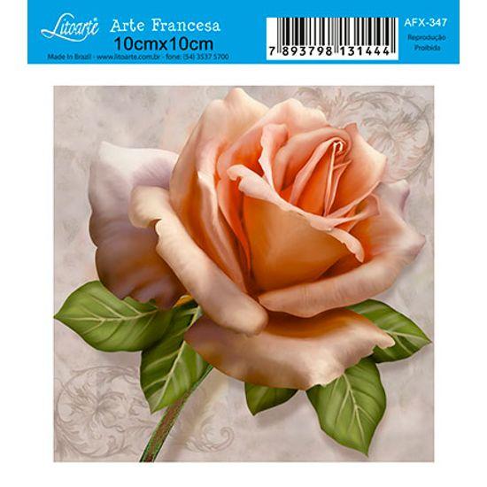 Papel Decoupage Arte Francesa Flor AFX-347 - Litoarte