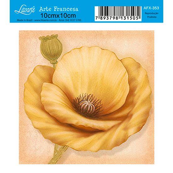 Papel Decoupage Arte Francesa Flor AFX-353 - Litoarte