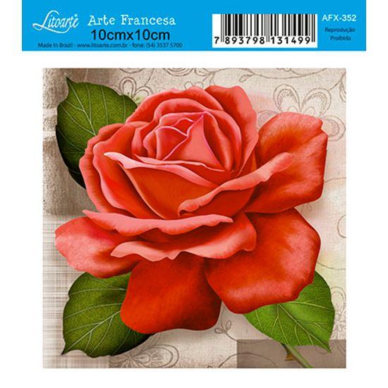 Papel Decoupage Arte Francesa Flor AFX-352 - Litoarte