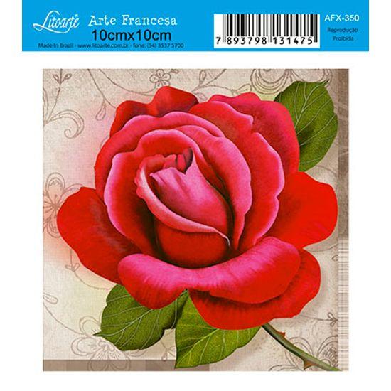 Papel Decoupage Arte Francesa Flor AFX-350 - Litoarte