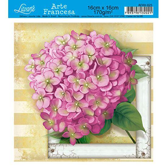 Papel Decoupage Arte Francesa Flor AFXV-025 - Litoarte