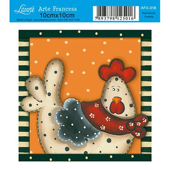 Papel Decoupage Arte Francesa Galinha AFX-318 - Litoarte