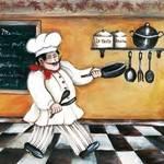 Papel Decoupage Arte Francesa Grande Cozinheiro LFQG40 - Litocart