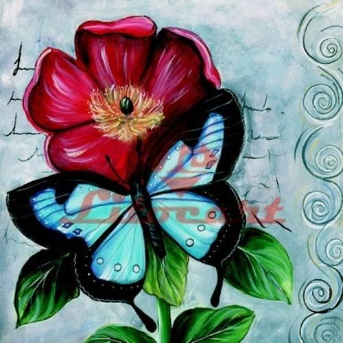 Papel Decoupage Arte Francesa Grande Flores Lfqg-38